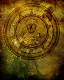 Crânio e ilustração do emblema dos Crossbones ilustração royalty free