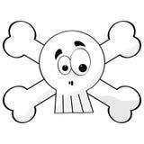 Crânio e ossos dos desenhos animados Fotos de Stock