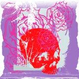 Crânio e rosas Fotos de Stock