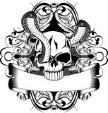 Crânio e serpente dois Imagens de Stock Royalty Free