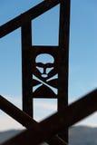 Crânio e sinal de aviso dos crossbones Imagens de Stock Royalty Free