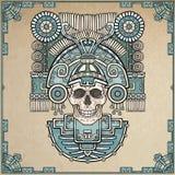 Crânio estilizado Deus pagão da morte ilustração royalty free