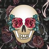 Crânio floral Imagem de Stock