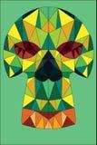 Crânio geométrico ilustração do vetor
