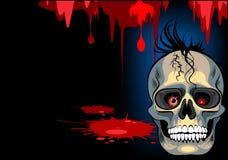 Crânio Halloween Imagens de Stock Royalty Free