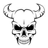 Crânio Horned Imagem de Stock Royalty Free