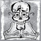 Crânio inteligente. ilustração stock