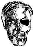 Crânio irritado do monstro Imagens de Stock Royalty Free