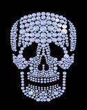 Crânio luxuoso de brilho do diamante, joia, cristal, forma, encanto Foto de Stock