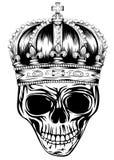Crânio na coroa Imagem de Stock Royalty Free