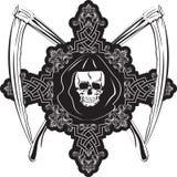 Crânio na cruz Imagens de Stock Royalty Free