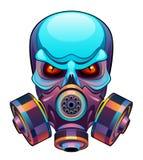 Crânio na máscara ilustração do vetor