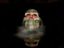 Crânio na névoa Imagens de Stock