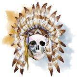 Crânio nativo ilustração royalty free