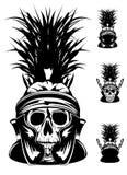 Crânio no capacete Fotografia de Stock Royalty Free