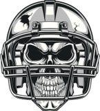 Crânio no capacete Imagens de Stock Royalty Free