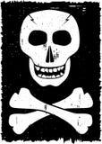 Crânio no fundo do grunge. ilustração stock