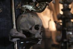 Crânio no osso Churc de Kutna Hora foto de stock royalty free