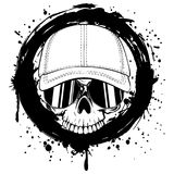 Crânio no tampão ilustração stock