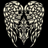 Crânio ornamentado com cruz Imagem de Stock