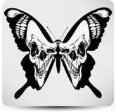 Crânio preto da borboleta. Ilustração do vetor ilustração do vetor