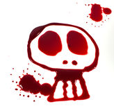 Crânio sangrento Imagens de Stock Royalty Free