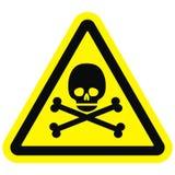 Crânio, sinal de aviso ilustração do vetor