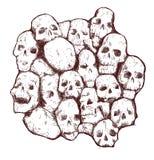 Crânio sujo ilustração stock
