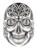Crânio surreal da mistura de Art Celtic ilustração royalty free