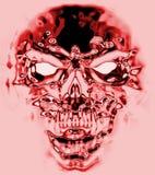 Crânio vermelho do inferno ilustração stock
