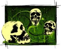 Crânios assustadores de Halloween Fotos de Stock Royalty Free