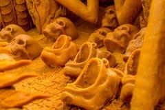 Crânios cinzelados vela Foto de Stock Royalty Free