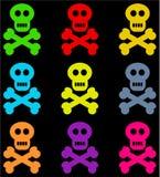 Crânios coloridos ilustração royalty free