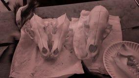 Crânios com filtro fotografia de stock royalty free
