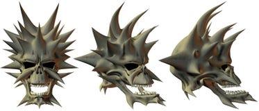 crânios da fantasia 3D Foto de Stock