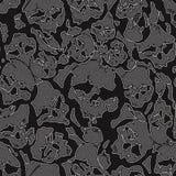 Crânios das calças de brim Fotos de Stock
