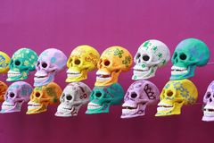Crânios decorados Fotografia de Stock