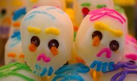 Crânios do açúcar dos pares Fotografia de Stock