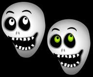 Crânios do esqueleto de Halloween ilustração stock