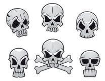 Crânios dos desenhos animados ajustados ilustração royalty free