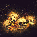 Crânios e ossos Foto de Stock Royalty Free