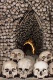 Crânios e ossos em Kutna Hora Fotografia de Stock Royalty Free