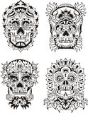 Crânios florais Imagens de Stock