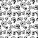 Crânios sem emenda brancos Imagens de Stock Royalty Free
