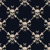 Crânios sem emenda do pirata do teste padrão Imagens de Stock