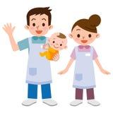 Crèche et bébé illustration de vecteur