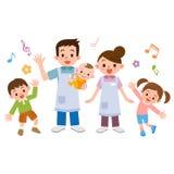 Crèche et enfants illustration stock