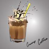 Crème à café illustration de vecteur