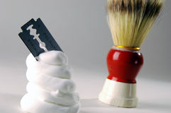 Crème à raser photo stock