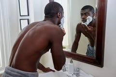 Crème à raser d'homme Photo libre de droits